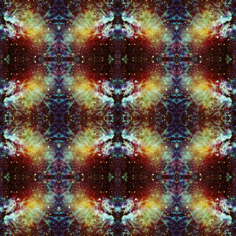 ELECTRIC PLANET BROWN TREASURE GALAXY NEBULA BROWN TREASURE fabric by paysmage on Spoonflower - custom fabric