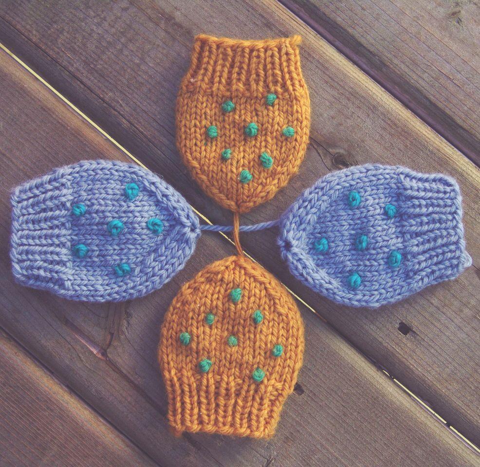 Patron de mitaines pour bébé gratuit (tricot). Free baby mittens ...