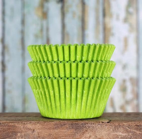 Lime Green Cupcake Liners Lime Green Baking Cups Lime Green