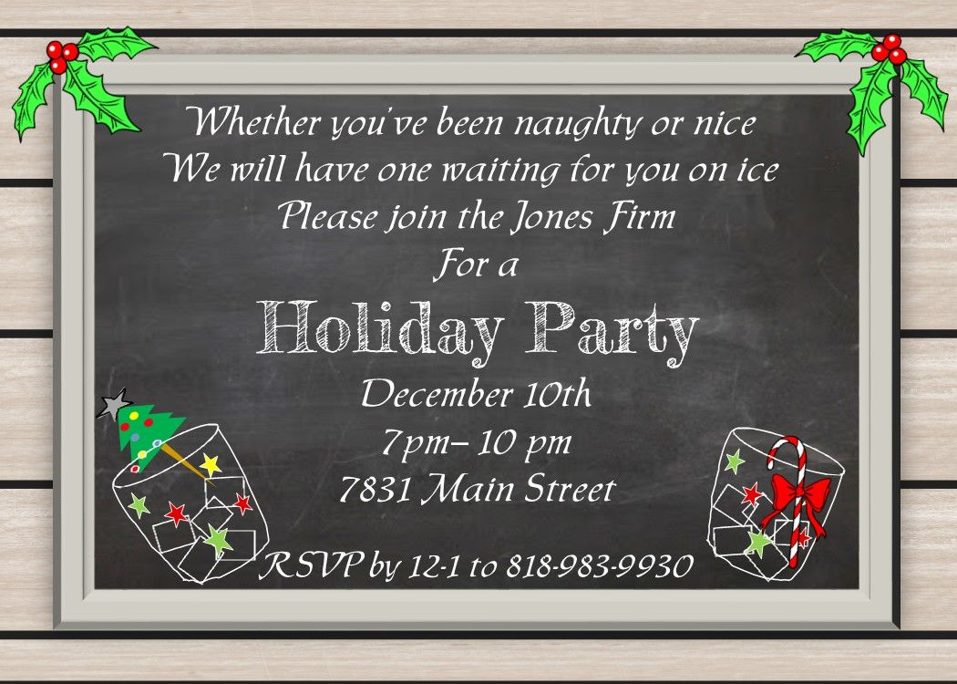Order form   Party invitations, Winter parties and Open house ...