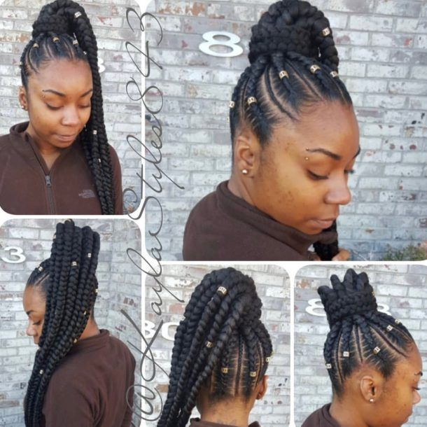 Braid Hairstyles 2018 40 Ghana Braid Box Braid Goddess Braid Lemonade Braid Hair Styles Braided Hairstyles Ghana Braids Updo