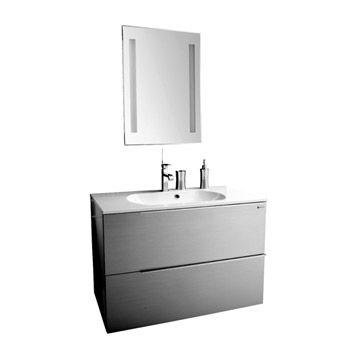 Meuble de salle de bains Remix, gris galet n°3 | Leroy ...