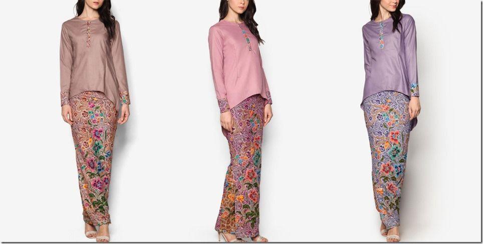 A Must-Have Batik Inspired Kurung With Asymmetrical High Low Hem Blouse
