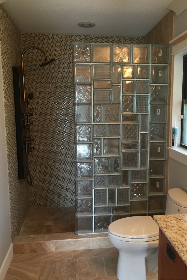 Charmant Dont Be Afraid To Inject Personality Into A Shower Wall Design. This Glass  Block Wall (which Is Still In The Process Of Being Finished) Used Multiple  Glass ...