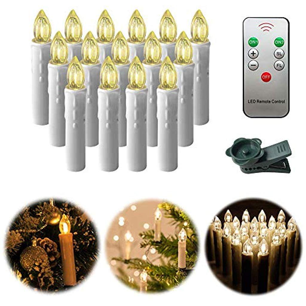 Uisebrt 40er Led Kerzen Flammenlose Weihnachtskerzen Mit
