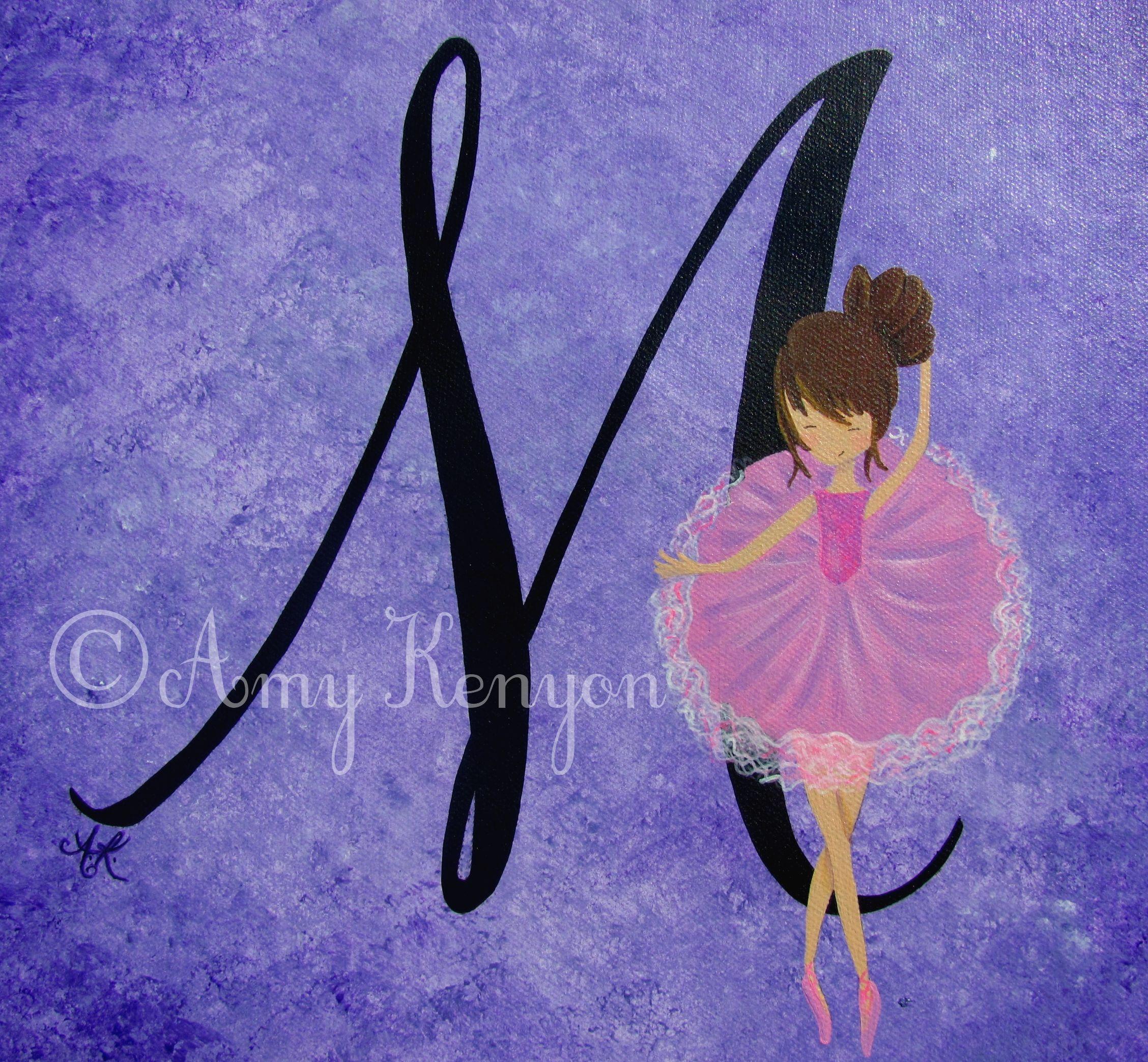 Ballerina Painting For Girls Room