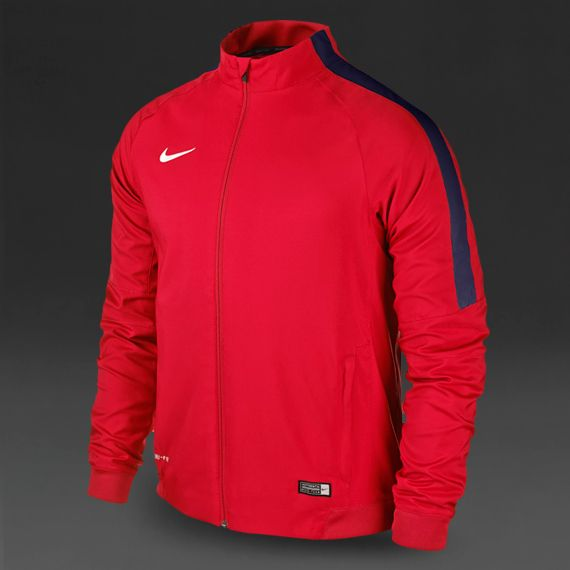 Nike Squad 15 Sideline Woven Jacket - Crimson Obsidian White ... 92751a338b98e