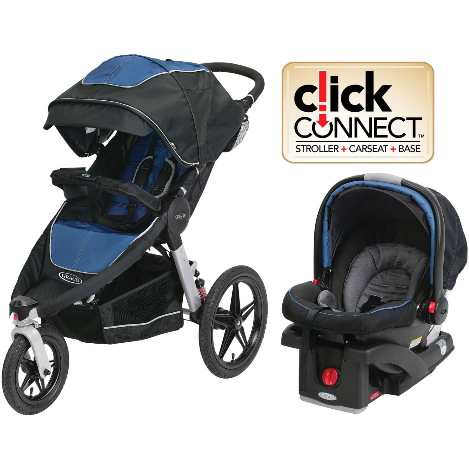 Graco Relay Click Connect Travel System Car Seat Stroller