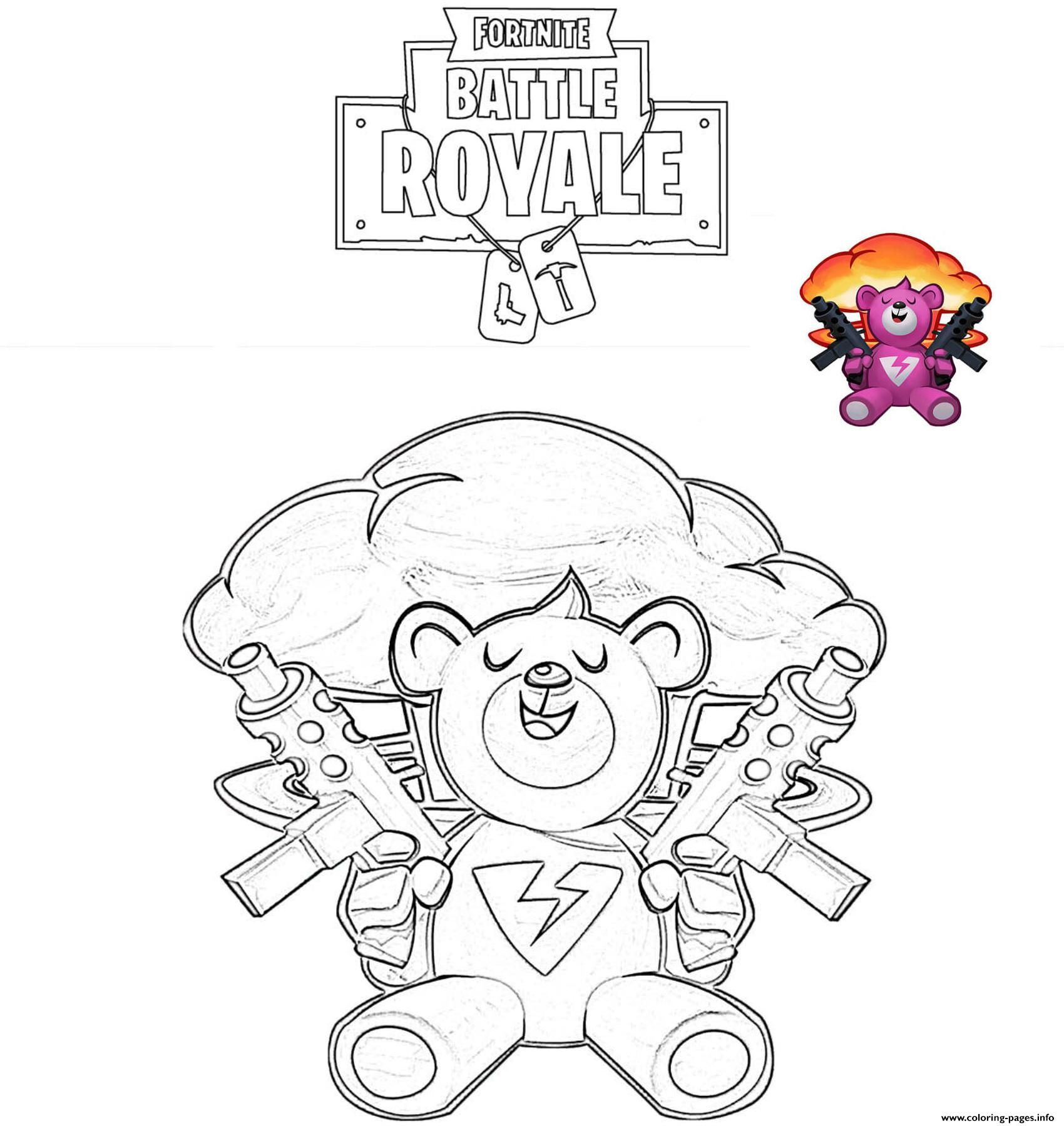 Print Brite Bomber Fortnite Battle Royale Coloring Pages Cartoon