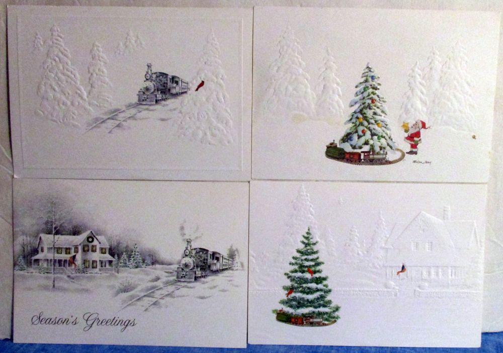 Vintage 4 National Roadroad Museum Christmas Card Samples #32 c1 ...