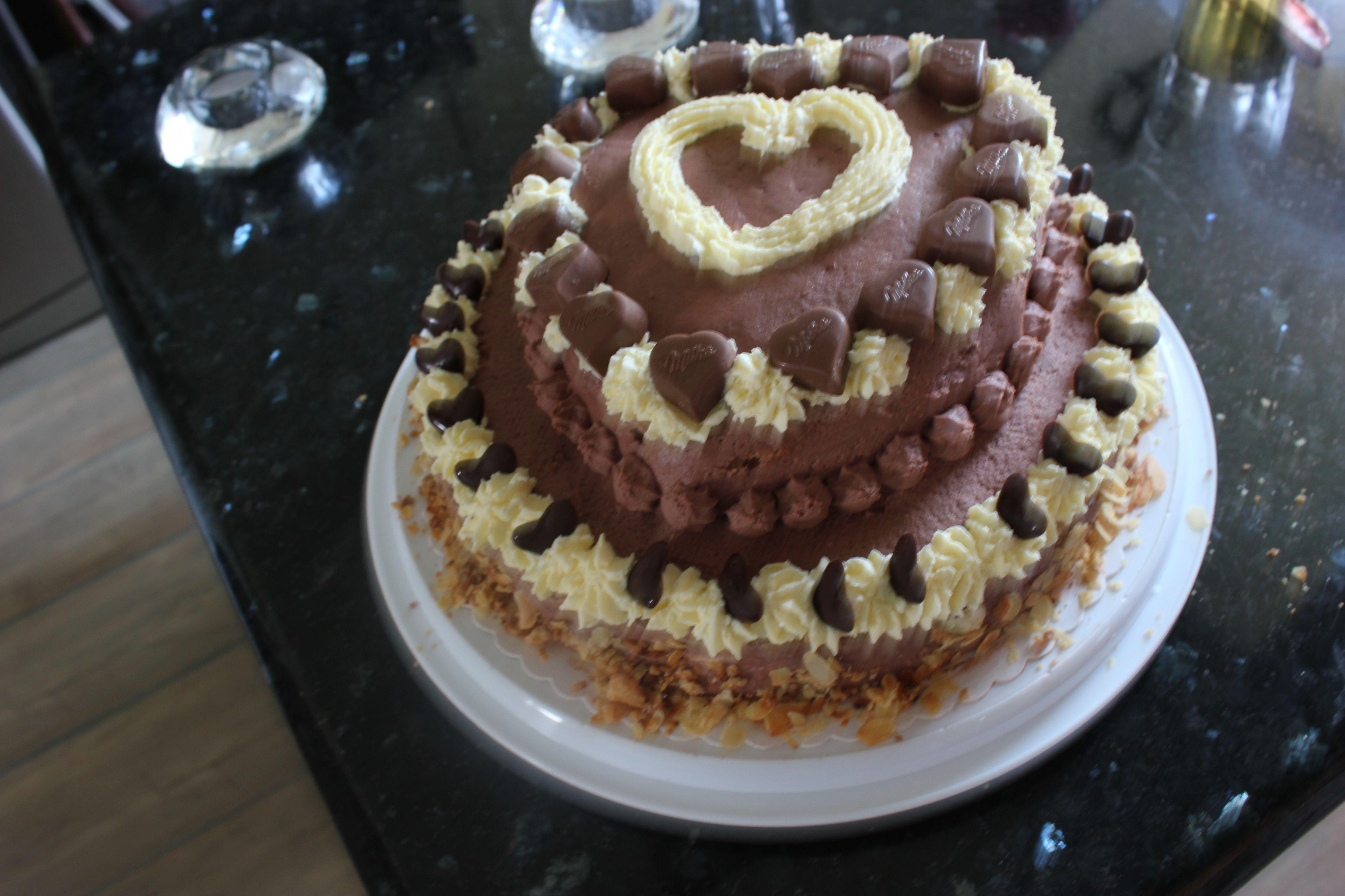 Milka Herzchen Torte