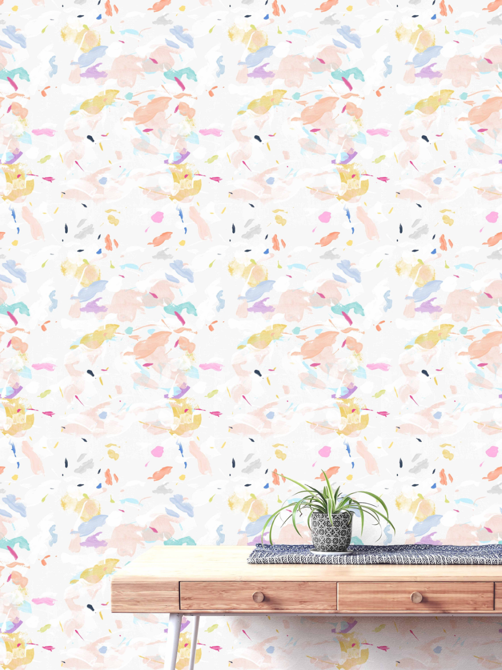 Colourful Abstract Wallpaper Peel And Stick Or Pre Pasted Wallpaper Kids Wallpaper Removable Wallpaper Nurs Abstract Wallpaper Nursery Wallpaper Wallpaper
