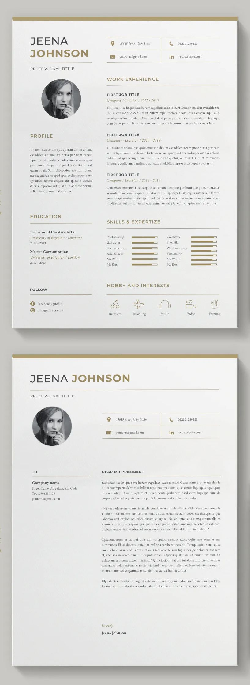 Resume Template Ms Word Indesign Indesign Resume Template Resume Design Template Resume Templates
