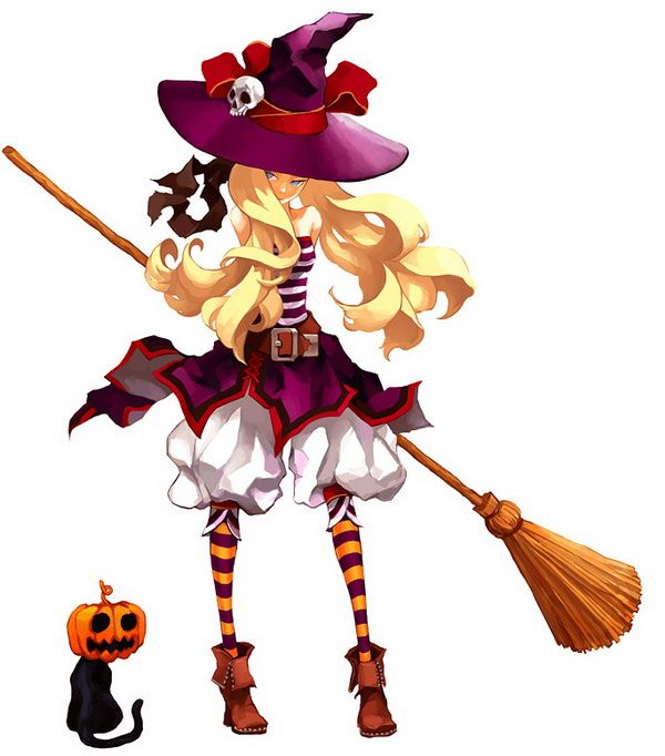 Anime Illustrations By Enpitsu Cuded Anime Witch Anime Anime Halloween