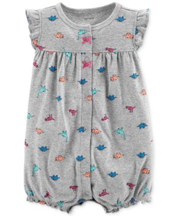 97a4775e48d9 Carter s Baby Girls Cotton Dinosaur Romper - Prt 12 months in 2019 ...
