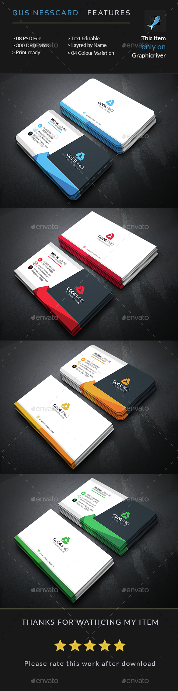 creative business card  u2014 photoshop psd  official  all