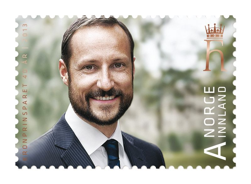 Postzegel Noorwegen - Haakon 40 jaar - 2013