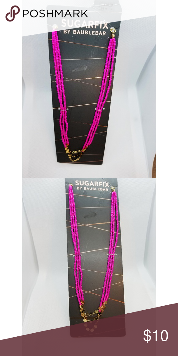 Pink Sugarfix by Baublebar Necklace Very fun to wear! NWT