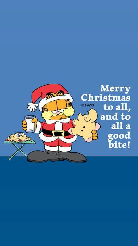 Garfield Merry Christmas To All Garfield Christmas Christmas Cartoons Christmas Humor