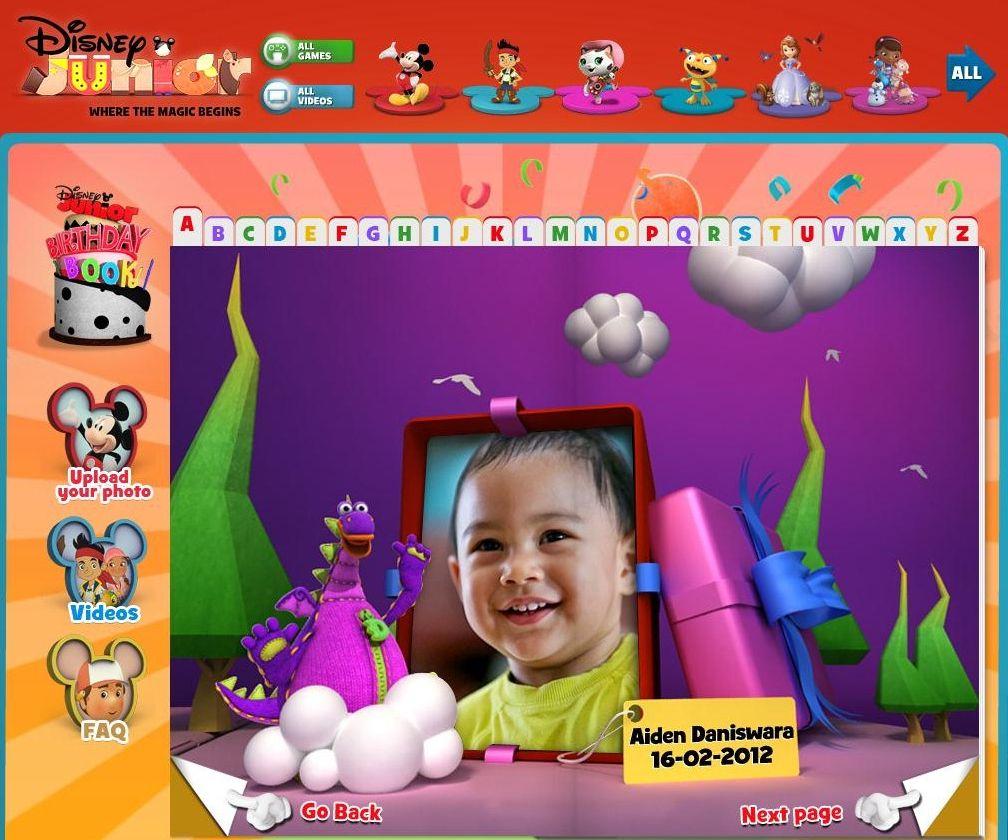 Aiden In Disney Junior Birthday Book Disney Junior Birthday Birthday Book Disney Junior