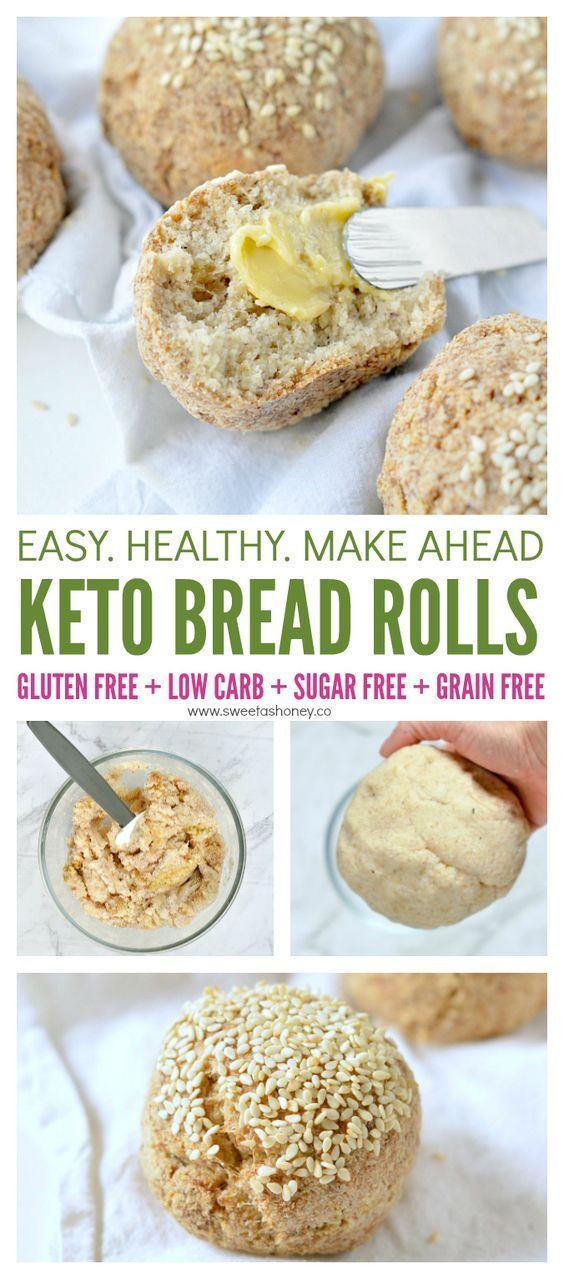 Keto bread rolls NO EGGS ! 100% Vegan + Dairy free + Low Carb + Grain free. Delicious crispy bread rolls made of almond flour, coconut flour and psyllium husk. #keto #lowcarb #bread #vegan #sugarfree #grainfree #breadrolls