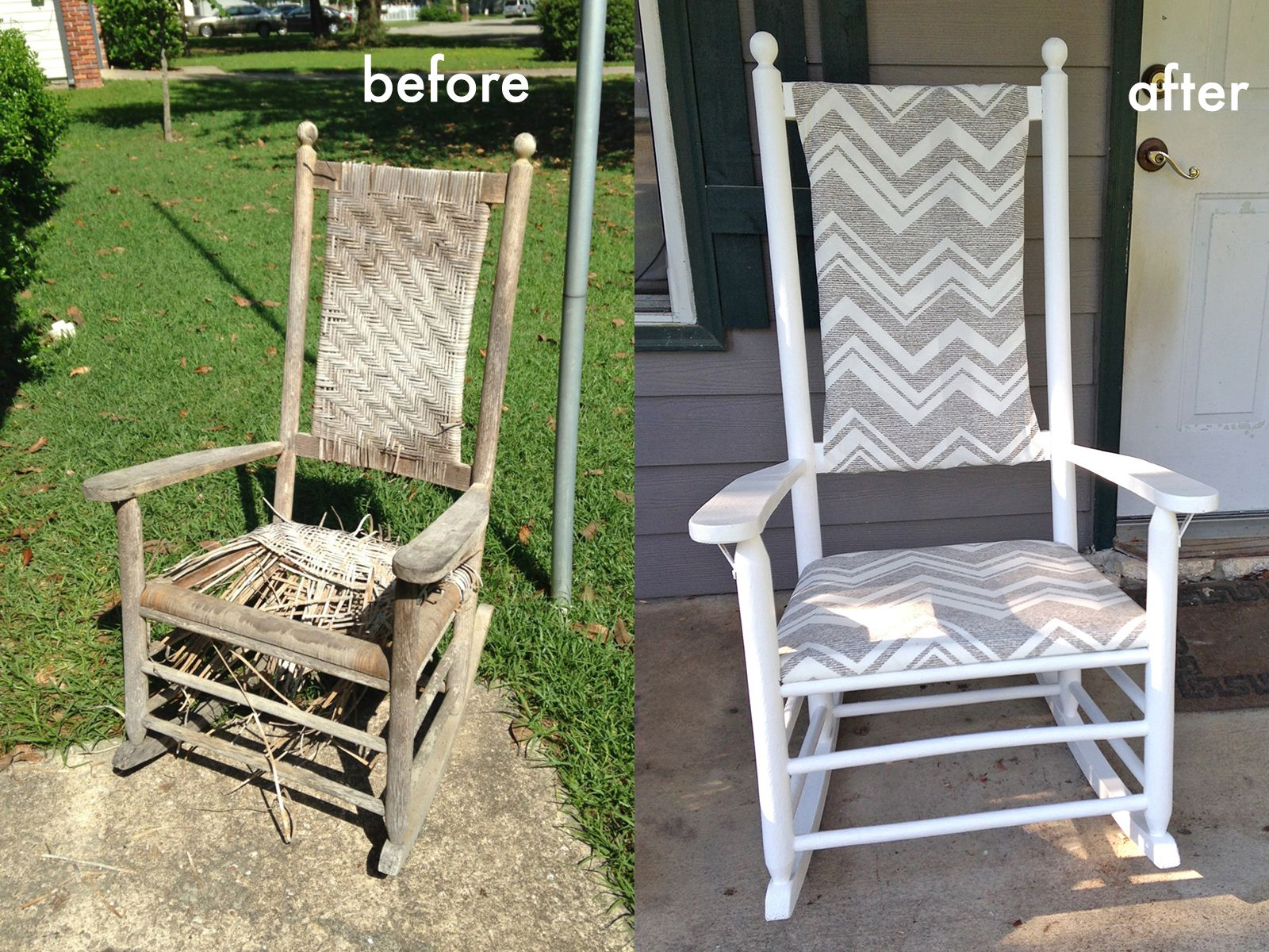 Refurbished Chairs We Can Make Anything Rocking Chair Redo Put A Nail In