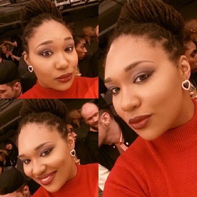 Have a little face before the show started. #psblogger #beauty #face #makeup #wetnwild #lanebryant #lbtoledo