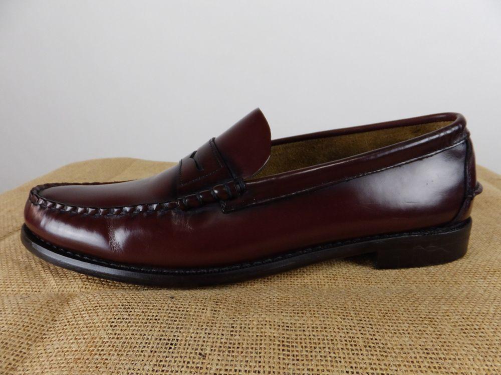 2d9cd473c3 SEBAGO Classic Beef Roll Penny Loafer Cordo Burgundy Shoe Men 14 D M EU 49   140  Sebago  LoafersSlipOns  Formal