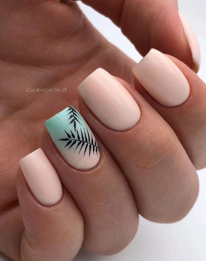 60 Natural Short Square Nails Design Ideas For Summer Nails Page 34 Of 60 Latest Fashion Trends For Woman Short Acrylic Nails Designs Short Square Nails Square Nail Designs