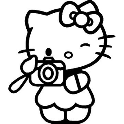 Hello Kitty Camera Photo Picture Png 400 400 Kartun