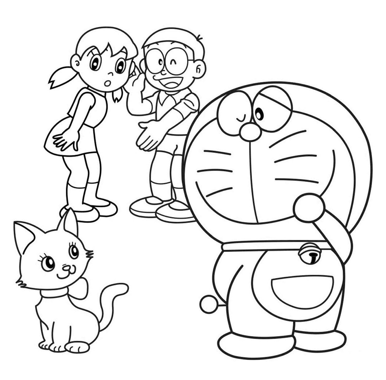 99 bức tranh tô màu hình doremon ngộ nghĩnh đáng yêu cho bé trai bé gá