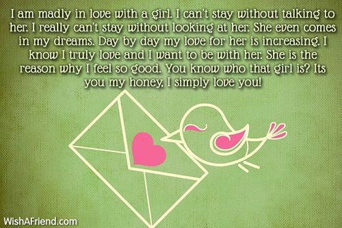 I Am Madly In Love  Love Letters For Her