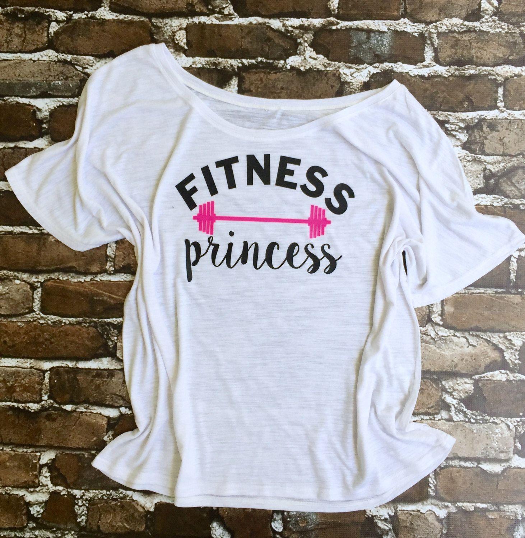 c9fdb147 Work out t shirt ideas! Fitness Princess Custom Workout Shirt, Custom Gym  Shirt, Oversized Gym t shirt…