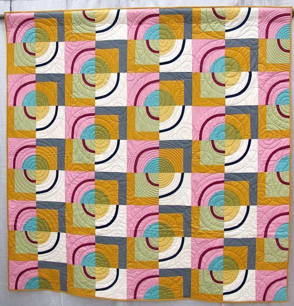 Orbits by Amy Stevenson. Ann Arbor, Michigan. Quilted by Kathy ... : threadbear quilts - Adamdwight.com
