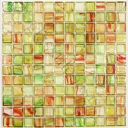 "Green 1"" x 1"" Glossy Glass Tile"