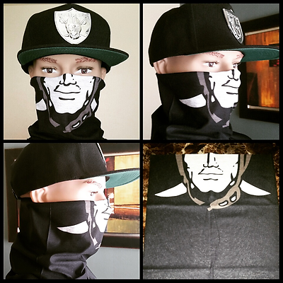 OAKLAND RAIDERS T-SHIRT FREE RAIDERS FACESHIELD MASK WITH PURCHASE