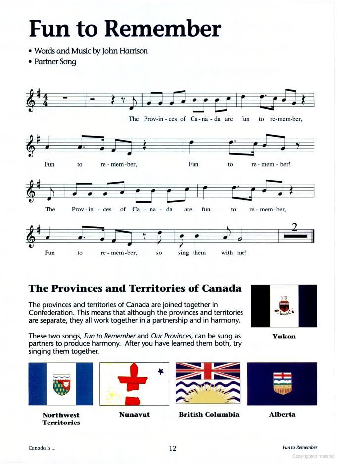 how to remember the provinces of canada