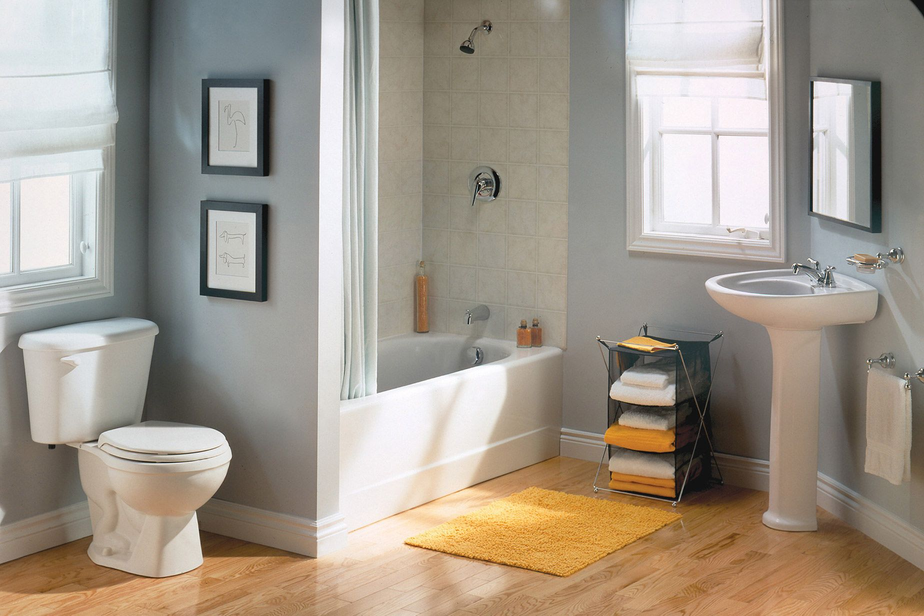 Stylish Bathroom With American Standard S Two Piece Toilet
