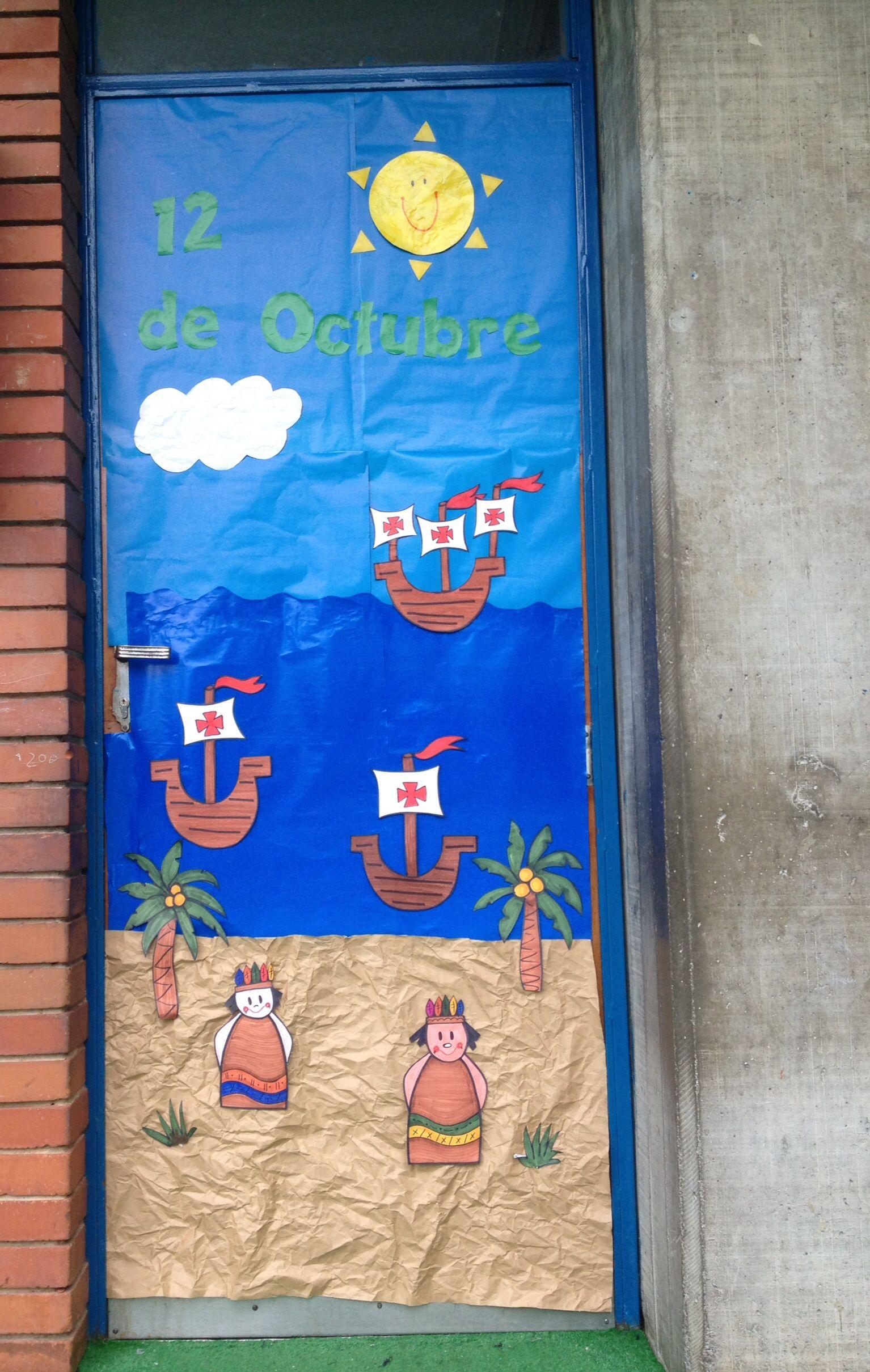 12 de octubre puertas decoradas puertas decoradas
