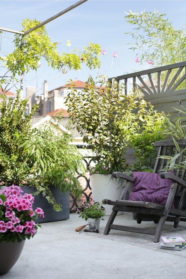 Une terrasse fleurie o u t d o o r pinterest fleuri terrasses et balcons - Terrasse et jardin fleuri paris ...