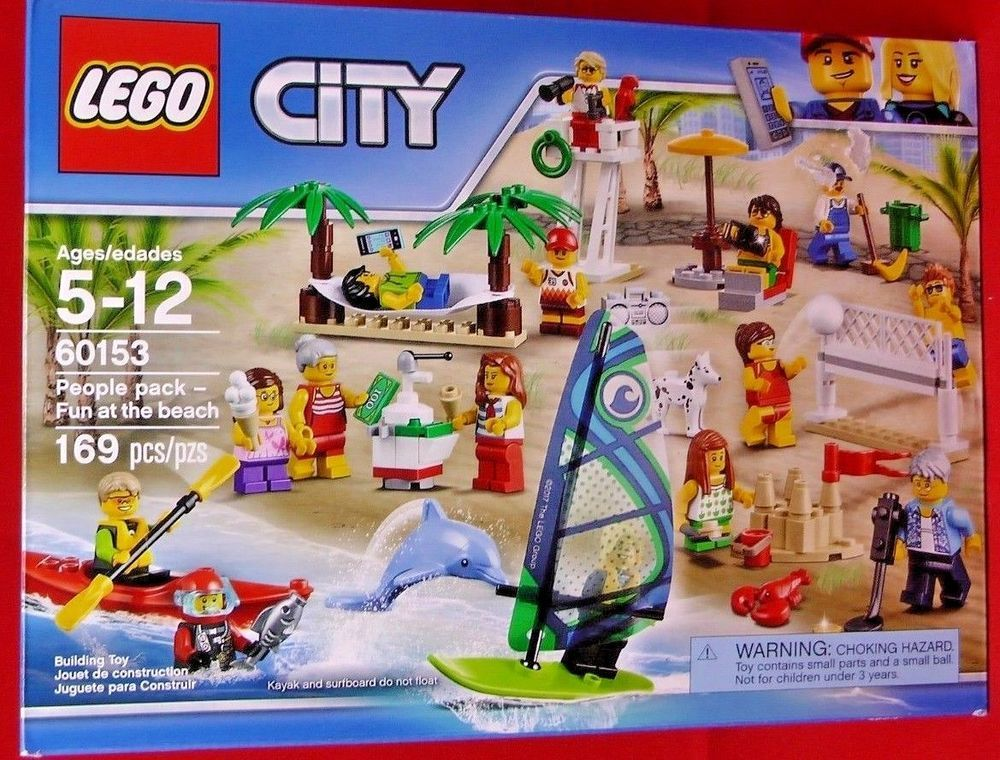 Lego City People Pack Fun at The Beach 60153 NEW