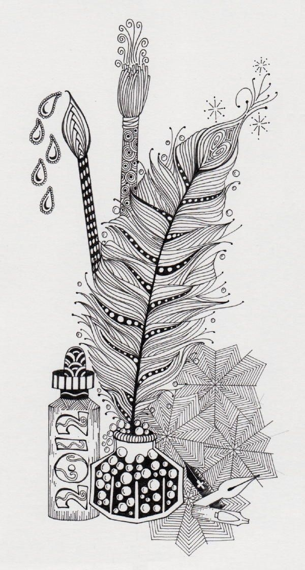 Zentangles......maybe the inspiration for this year\'s Christmas ...