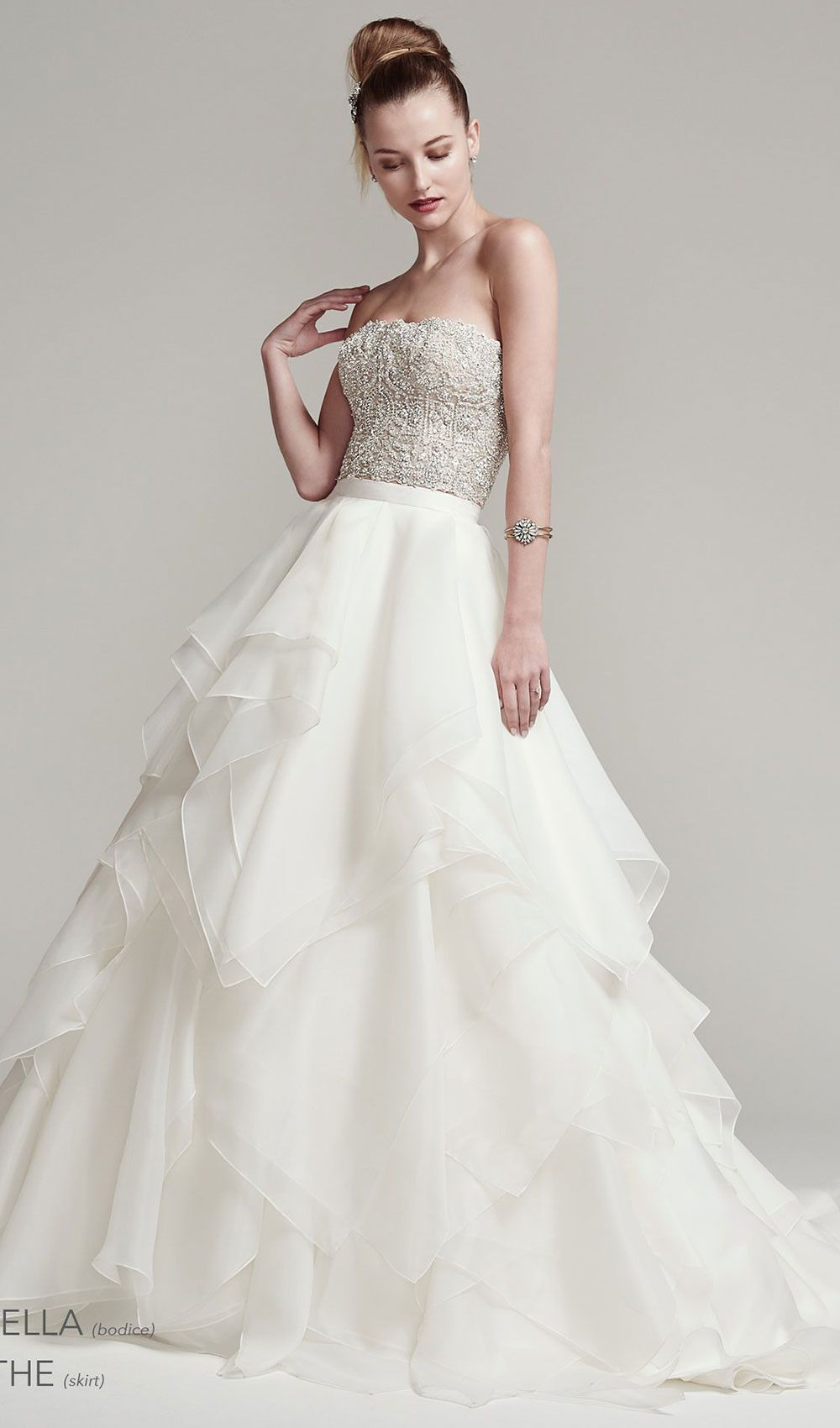 Try This Bead Encrusted Strapless Wedding Dress Bodice Sparkles With Swarovski Crystals Finished