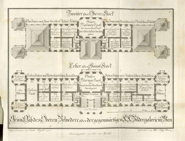 belvedere vienna first and second floor plans - Vienna House Plans