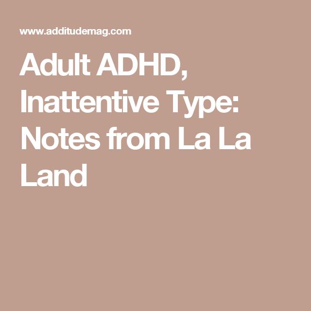 Inattentive Adhd Adult