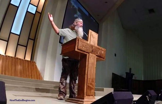 SEE IT! Duck Dynasty Star Phil Robertson Preachers Blistering Easter Sermon Against Sin - Now The End Begins