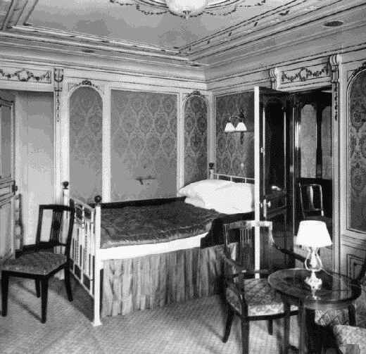 Titanic Bedroom Theme: Photo Of One Of The First Class Rooms Of Section B.