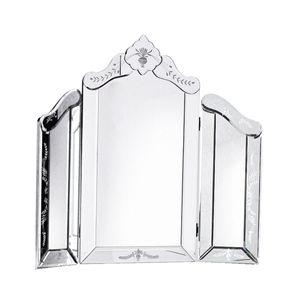 Etched Dressing Table Mirror 70 X 63cm