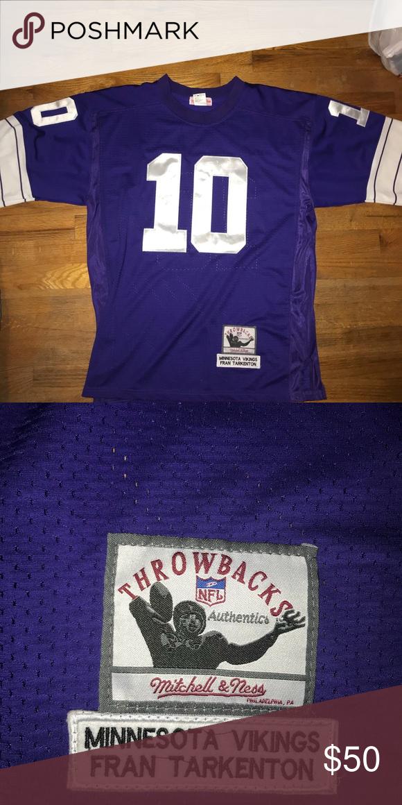 brand new 68725 dc067 Minnesota Viking Fran Tarkenton legend jersey Mitchell ...