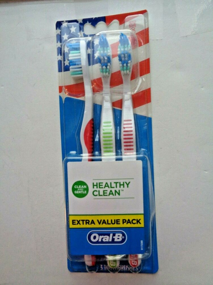Oral B Healthy Clean Manual Toothbrushes Extra Value Pack Soft Bristles 3 Ct Oralb Oral B Manual Toothbrush Oral
